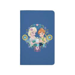 Pocket Journal with Anna & Elsa Frozen Fever Sister Gift design