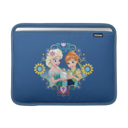 Macbook Air Sleeve with Anna & Elsa Frozen Fever Sister Gift design