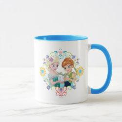 Combo Mug with Anna & Elsa Frozen Fever Sister Gift design