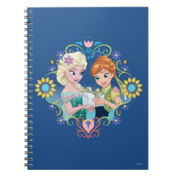 Photo Notebook (6.5' x 8.75', 80 Pages B&W) with Anna & Elsa Frozen Fever Sister Gift design