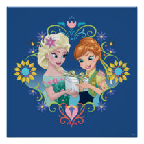 Anna and Elsa | Gift for Sister Poster