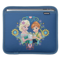 iPad Sleeve with Anna & Elsa Frozen Fever Sister Gift design