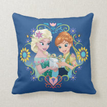 Anna and Elsa | Gift for Sister Throw Pillow