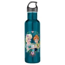 Water Bottle (24 oz) with Anna & Elsa Frozen Fever Sister Gift design