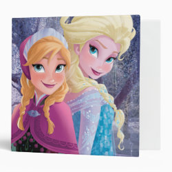 Avery Signature 1' Binder with Sisters Anna & Elsa of Disney's Frozen design