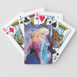 Playing Cards with Sisters Anna & Elsa of Disney's Frozen design