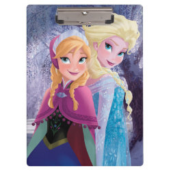 Clipboard with Sisters Anna & Elsa of Disney's Frozen design