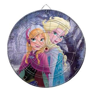Anna and Elsa | Holding Hands Dartboard