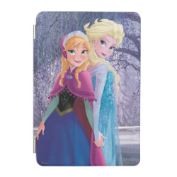 iPad mini Cover with Sisters Anna & Elsa of Disney's Frozen design