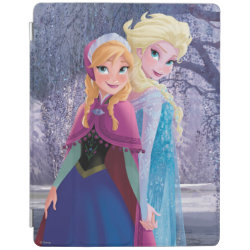 iPad 2/3/4 Cover with Sisters Anna & Elsa of Disney's Frozen design