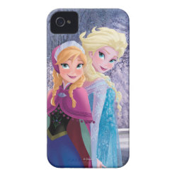 Sisters Anna & Elsa of Disney's Frozen Case-Mate iPhone 4 Barely There Universal Case