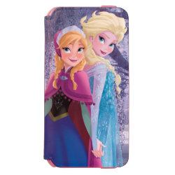 Sisters Anna & Elsa of Disney's Frozen Incipio Watson™ iPhone 6 Wallet Case