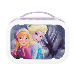 Purple yubo Lunch Box with Sisters Anna & Elsa of Disney's Frozen design