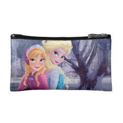 Sisters Anna & Elsa of Disney's Frozen Small Cosmetic Bag