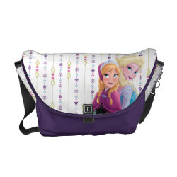 Rickshaw Medium Zero Messenger Bag with Sisters Anna & Elsa of Disney's Frozen design