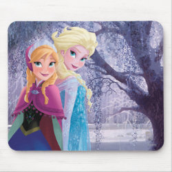 Sisters Anna & Elsa of Disney's Frozen Mousepad