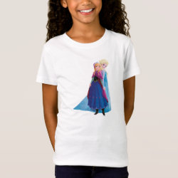 Girls' Fine Jersey T-Shirt with Sisters Anna & Elsa of Disney's Frozen design