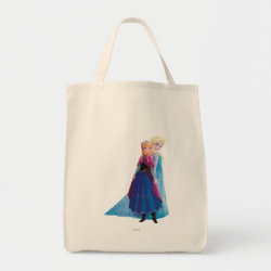 Grocery Tote with Sisters Anna & Elsa of Disney's Frozen design