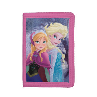 Anna and Elsa   Holding Hands Trifold Wallets