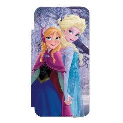 Incipio Watson™ iPhone 5/5s Wallet Case with Sisters Anna & Elsa of Disney's Frozen design