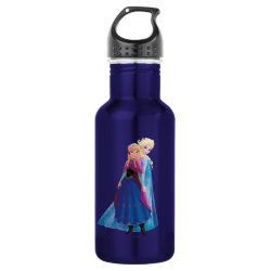 Water Bottle (24 oz) with Sisters Anna & Elsa of Disney's Frozen design