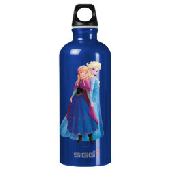SIGG Traveller Water Bottle (0.6L) with Sisters Anna & Elsa of Disney's Frozen design
