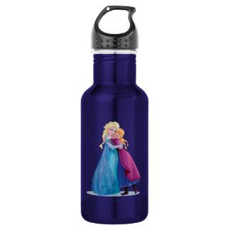 Anna and Elsa Hugging 18oz Water Bottle
