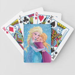 Playing Cards with Sister Love: Anna & Elsa Hugging design