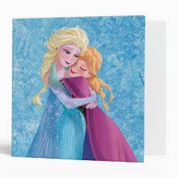Avery Signature 1' Binder with Sister Love: Anna & Elsa Hugging design