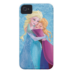 Case-Mate iPhone 4 Barely There Universal Case with Sister Love: Anna & Elsa Hugging design