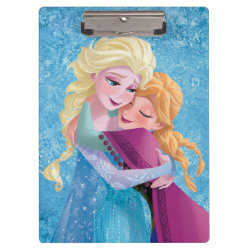 Clipboard with Sister Love: Anna & Elsa Hugging design