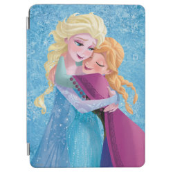 iPad Air Cover with Sister Love: Anna & Elsa Hugging design