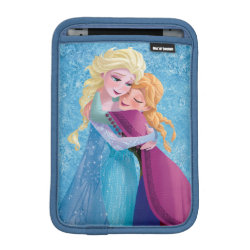 iPad Mini Sleeve with Sister Love: Anna & Elsa Hugging design