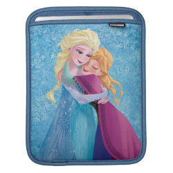 iPad Sleeve with Sister Love: Anna & Elsa Hugging design