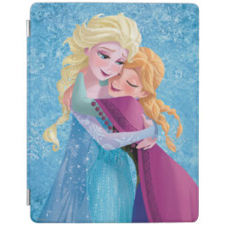 iPad 2/3/4 Cover with Sister Love: Anna & Elsa Hugging design