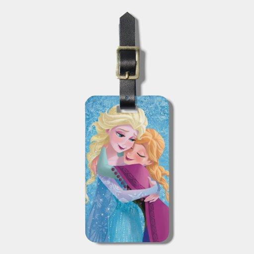 Anna and Elsa Hugging Luggage Tag