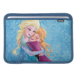 Macbook Air Sleeve with Sister Love: Anna & Elsa Hugging design