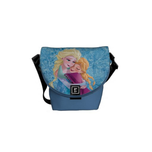Anna and Elsa Hugging Courier Bags