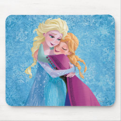 Mousepad with Sister Love: Anna & Elsa Hugging design