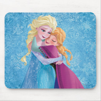Anna and Elsa | Hugging Mouse Pad