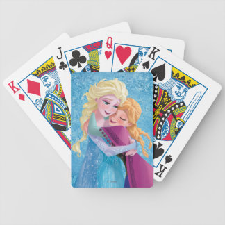 Anna and Elsa Hugging Bicycle Playing Cards