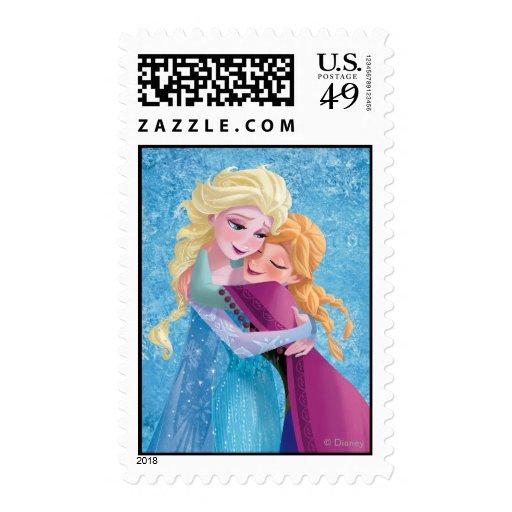 Anna and Elsa Hugging Stamp