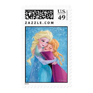 Anna and Elsa Hugging Postage Stamp