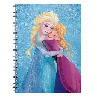 Anna and Elsa Hugging Spiral Notebook