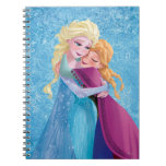 Anna and Elsa Hugging Spiral Notebooks