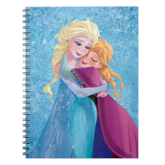 Anna and Elsa Hugging Spiral Notebooks