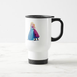 Travel / Commuter Mug with Sister Love: Anna & Elsa Hugging design