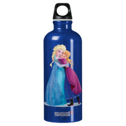 SIGG Traveller Water Bottle (0.6L) with Sister Love: Anna & Elsa Hugging design