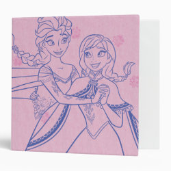 Avery Signature 1' Binder with Anna & Elsa Sisters Line Drawing design