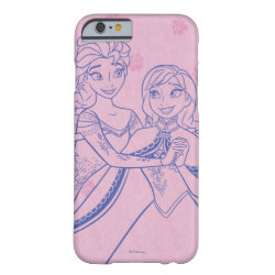 Case-Mate Barely There iPhone 6 Case with Anna & Elsa Sisters Line Drawing design